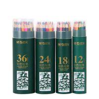 晨光筒装彩色铅笔48色/36色/24色/18色/12色小学生绘图涂鸦彩铅 AWP36802