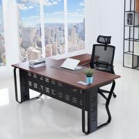 办公家具经理主管老板桌现代简约大班台单人桌椅含柜组合办公室 椅