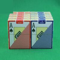 德州扑克牌 大字塑料扑克 内附切牌片
