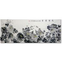 天津美协会员 中国牡丹书画院院士 黄春霞【花开富贵】179*70cm  HZ0323
