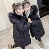 韩版女孩洋气中长款冬季中大童加厚时尚棉袄潮衣女童