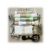 辉盛阁夏季新款韩国手工DIY丝带唯美清新发饰绿色蝴蝶结材料包