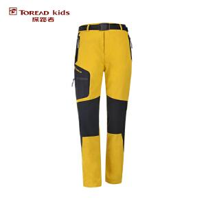 探路者TOREAD品牌童装 户外运动 春装秋装男童徒步拼接儿童长裤