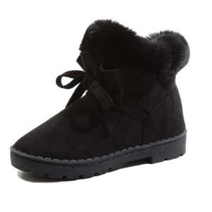 O'SHELL法国欧希尔新品冬季119-S-2韩版磨砂绒面平跟女士雪地靴