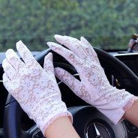 开车防滑触屏弹力性感蕾丝手套防晒手套女短薄款防紫外线