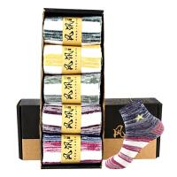 【五双装】男士袜子 男士简约中筒棉袜2020秋冬新款男式透气中筒袜五双礼盒装
