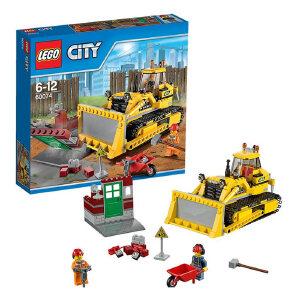 [当当自营]LEGO 乐高 CITY城市系列 工程推土机 积木拼插儿童益智玩具 60074
