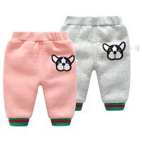 婴儿棉裤子男宝宝加绒加厚保暖3个月外穿冬装女休闲打底裤