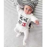 婴儿连体衣服宝宝新生儿春季0岁7月三角休闲哈衣外出服新年