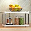 索尔诺置物架 厨房层架塑料落地收纳储物架 浴室客厅整理架子两层Z612