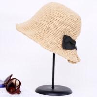 韩版复古保暖蝴蝶结百搭渔夫帽日系女士毛线针织帽子