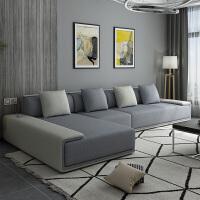 北欧沙发可拆洗家用大户型现代简约布艺沙发客厅家具整装组合 乳胶版