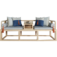 新中式实木沙发组合 现代简约禅意中国风客厅原木色酒店民宿家具#85 组合