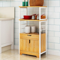 厨房置物架 落地多层收纳架家用多功能微波炉架子调料架碗
