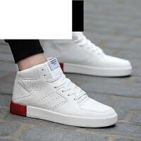 新款高帮板鞋男子运动休闲高邦街舞潮中帮加绒保暖棉