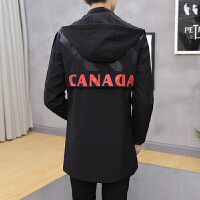 青少年风衣男装中长款春秋中学生修身帅气韩版潮流春季大衣外套