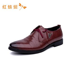 红蜻蜓2018秋季新品商务正装皮鞋真皮舒适休闲单鞋