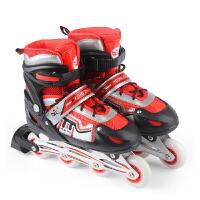 2016夏季溜冰鞋儿童可调闪光直排轮小孩初学者轮滑鞋滑冰鞋旱冰鞋男女款溜冰鞋 休闲鞋全套装