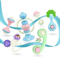 婴儿玩具0-1岁牙胶手摇铃男女宝宝新生幼儿0-3-6-12个月早教益智8