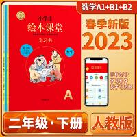 2020春小学生绘本课堂二年级下册数学人教版(RJ)第3版学习书A练习书B知识梳理复习六三制开明出版社