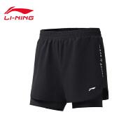 李宁运动短裤女士2020新款训练系列夏季运动短裤AKSQ096