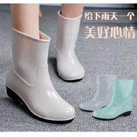 回力雨鞋夏季新款女士时尚中筒雨靴防水防滑雨鞋