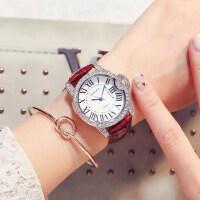 女士休闲复古表时装表学生表 潮流腕表皮带女士手表 时尚可爱优雅手表