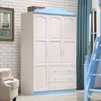 全实木衣柜 平开二门 青少年卧室三门组装衣橱储物柜 3门 组装