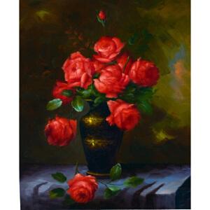Y343郑美明《红玫瑰》