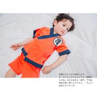 2017新款春夏男童家居服睡衣儿童春装宝宝套装中小童童装和服套装