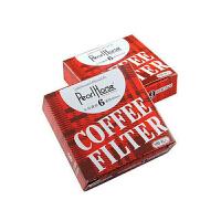 咖啡滤纸 摩卡意式咖啡壶*过滤纸 6号圆形滤纸 100张入 超值装