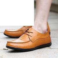 夏季男鞋男士豆豆鞋百搭休闲鞋韩版鞋子男系带休闲皮鞋透气懒人鞋