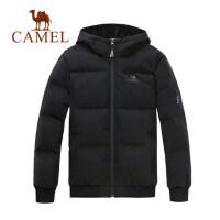 camel骆驼羽绒服男潮短款连帽韩版青少年帅气男装外套
