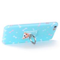 洛夫特 苹果6手机壳支架iphone6plus女款硅胶清新6s卡通可爱挂绳