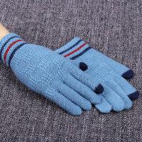 冬保暖加厚款手机触屏毛线冬季手套男冬骑行防寒男士手套