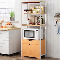 厨房置物架落地式多层微波炉架子橱柜烤箱收纳用品家用放锅储物架