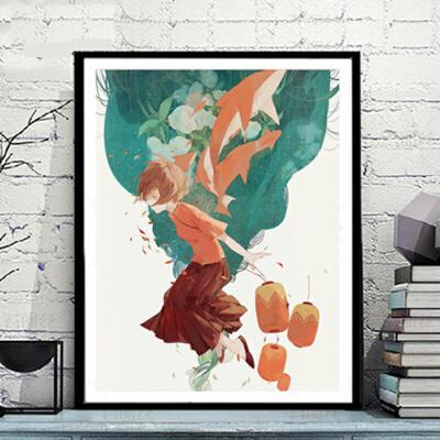 菲绣diy数字油画 手绘大幅卡通动漫国漫儿童装饰画 大鱼海棠