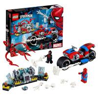 【当当自营】乐高(LEGO)积木 超级英雄系列 玩具礼物6岁+ 蜘蛛侠摩托车救援任务 76113