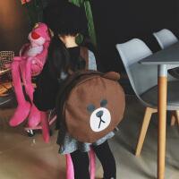 幼儿园书包面包超人小黄鸭布朗熊可爱卡通双肩包韩版潮男女童