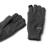户外防寒骑车手套男士冬天双层毛线手套男冬季保暖加厚款