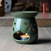 龙泉青瓷香炉 精品陶瓷精油香薰炉蜡烛 铁胎冰裂香薰炉香薰灯