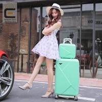 韩版行李箱子母旅行箱万向轮拉杆箱女小清新密码箱20寸皮箱学生男