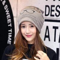 韩版帽子女冬天保暖包头帽女士秋冬季百搭休闲堆堆帽围脖套头帽子