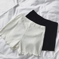 棉竖条三分打底裤女可外穿安全裤夏薄款防保险裤