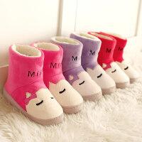 棉拖鞋女家居室内包跟月子加绒厚底学生毛绒保暖儿童亲子棉鞋