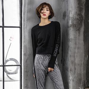 瑜伽服 女士新款潮秋冬韩版健身运动卫衣棒球服宽松休闲裤简约修身三件套瑜伽套装