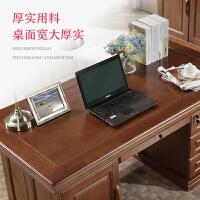 实木办公桌电脑台式桌子米米大户型中式书桌家用写字桌