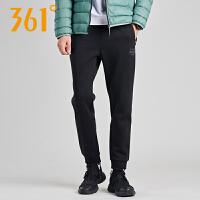 【361度双十二 2件4折】361度男装运动裤2018冬季新款361加绒保暖收口针织长裤