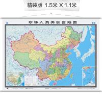 中国地图挂图(双全开 无拼缝专业挂图)