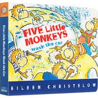 Five Little Monkeys Wash the Car 五只小猴洗车 英文原版 纸板书 廖彩杏书单 儿童启蒙